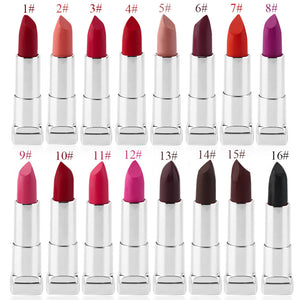 High Quality 16 Different Colors Sexy Lipstick Waterproof long lasting moisturizing Lip Beauty Lip Gloss Makeup