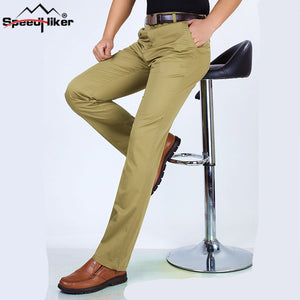 Speed Hiker Mens Pants Casual 100% Cotton Slim Pants Spring Summer Thin Men Straight Long Trousers Pants For Men