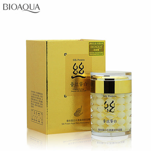 BIOAQUA Brand Silk Protein Face Cream Moisturizing Anti-aging Whitening Cream 60g Shrink Pores Skin Care Anti Wrinkle Face Care