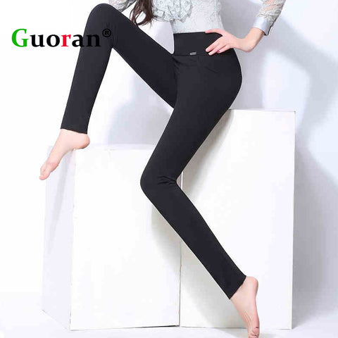 Thicken Warm Velvet Women Winter Trousers 2017 Black Red Blue High Waist Stretch Pencil Pants Female Fleece Office Pantalon