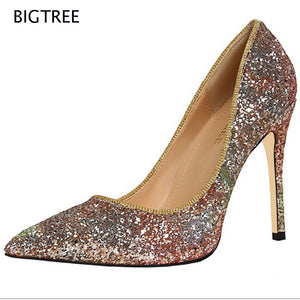 Shoes Lady Shallow Shinny  Women Sexy Party Designer Shoes Women Luxury Pumps Shoes 58TXJ