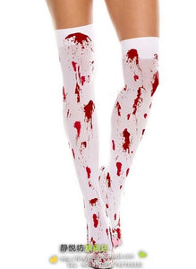 HALLOWEEN COSPLAY THIGH HIGH SOCKS Women's Sexy Party Nurse Cosplay Role Costume Sexy Socks Factory