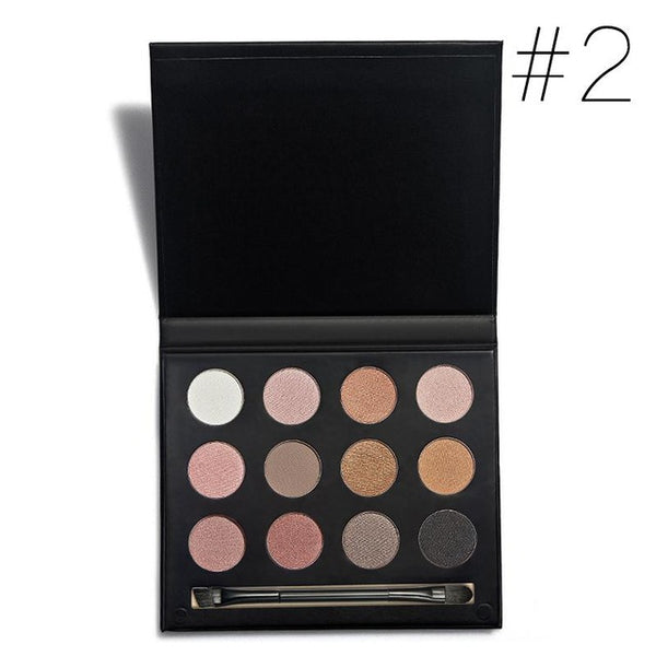 12 Earth Colors Eyeshadow Palette Matte Pigment Eye Shadow Cosmetic Makeup Eyeshadow Palettes For Women Beauty M03292