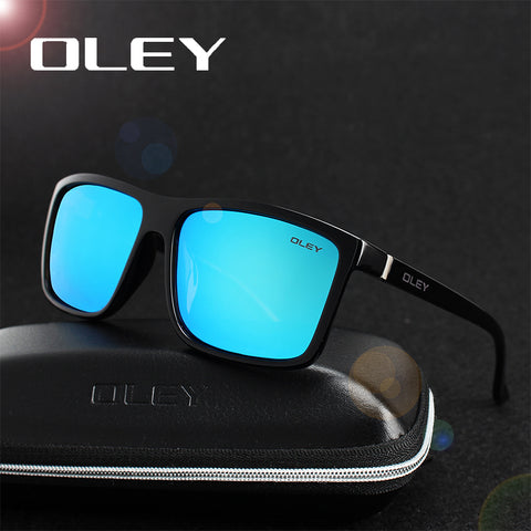 OLEY HD Polarized Men Sunglasses brand designer Retro Square Sun Glasses Accessories Unisex driving goggles oculos de sol Y6625
