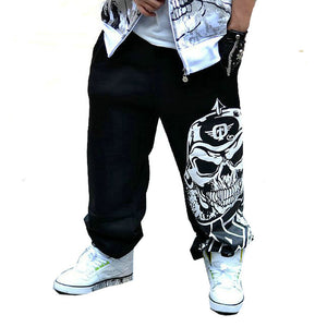 2017 Fashion Mens Biker Pants Loose Sweatpants Harem Pants Man Hip Hop Swag Clothing Men Gray Black