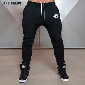 FASHION MEN NEW CASUAL JOGGER PANTS BODYBUILDING GYMS CLOTHES FASHION BRAND JOINING TOGETHER PENCIL PANTS SPORTWEAR SWEATPANTS
