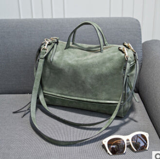 women shoulder bag nubuck leather vintage