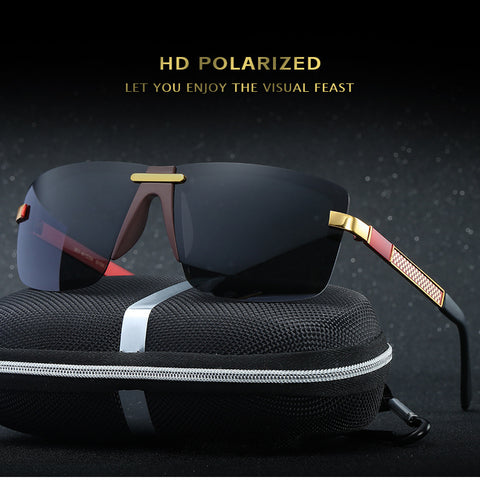 HD Polarized Sunglasses Rimless Men Sunglasses Men 2017 Luxury Brand Designer Gafas Oculos De Sol Masculino Polarizado Espelhado