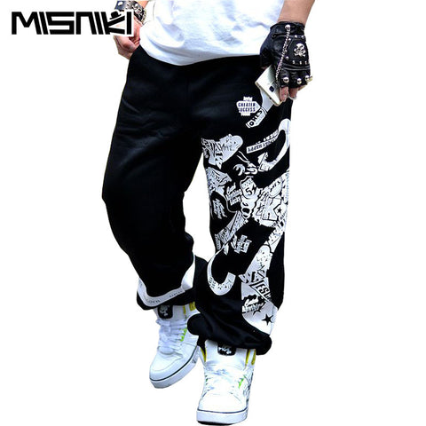 MISNIKI 2017 New Spring Street Cotton Sweatpants Men Hip Hop Printing Designer Jogger Pants Men