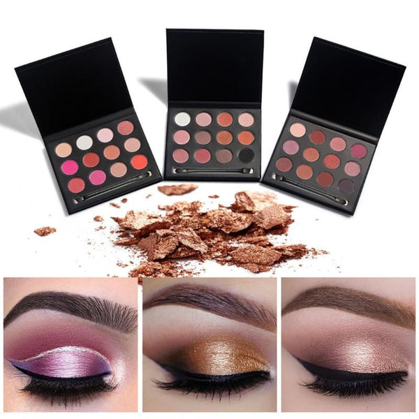 1Pc Professional Eye Shadow Palette Set 12 Colors Matte Shimmer Eyeshadow Palette Smokey  Cosmetics RP2
