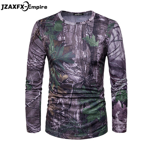 Men Fitness T Shirt Camouflage Fashion Tee shirt Men Long Sleeve T-Shirt High Quality  Army Tactical Military Clothing