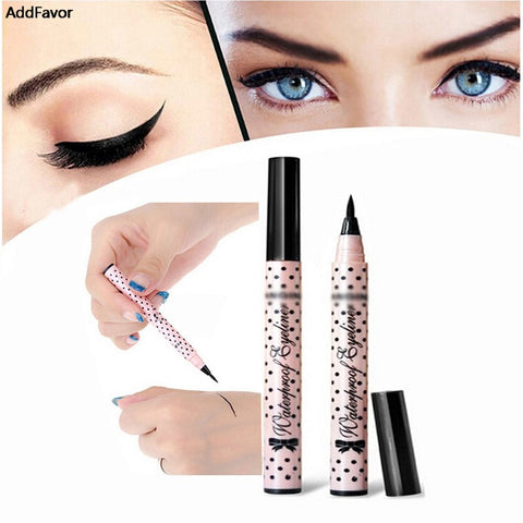 AddFavor Wholesale Cosmetic Eyes Waterproof Liquid Eyeliner Pencil Set Super Black Eye Liner Beauty Makeup Tools Eyeliner Pen