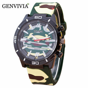 2017 Fashion men PU leather watch reloj fashion casual Camouflage Auartz men watches on sale military watches men saati homme