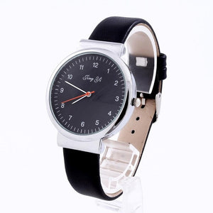 2017 Fashion Classical Women's Watch Roman Number Quartz Leather Wrist Watch Black White Leather Wristwatch montre femme - All2Wear.com