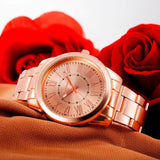 2017 Fashion Watch Women Watches Geneva Luxury Stainless Steel Bracelet Wristwatch Ladies Girl Rose Gold Dress Quartz Watch #15