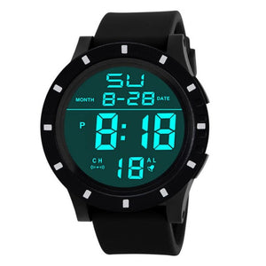 2017 Hot HONHX Men's Led Digital Watch Sports Wristwatches For Men Date Touch Screen Silicone Wrist Watch horloges mannen #502
