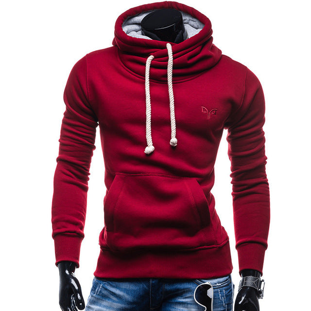 2017 New Spring Autumn Hoodies Men Fashion Brand Pullover Solid Color Turtleneck Sportswear Sweatshirt Men'S Tracksuits Moleton