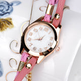 Boho Style Watches Women PU Leather Strap Bracelet Wristwatch