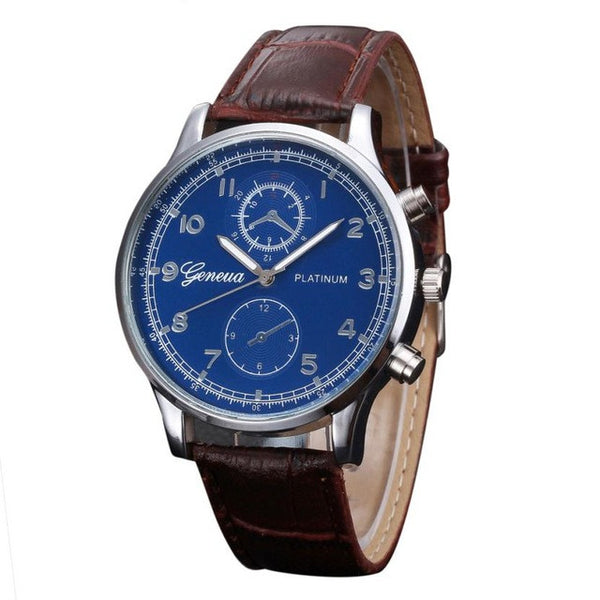 2017 Mens Watches PU Leather Quartz Watch Men Business Quartz Watch Fashion Casual Men's Watches Wristwatch Relgio Masculino