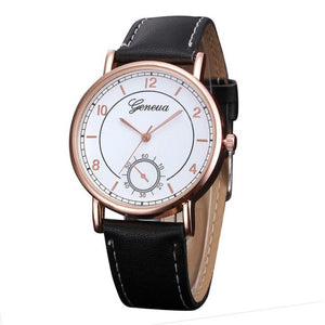 2017 Mens Watches Retro Design Faux Leather Band Analog Alloy Quartz Wrist Watch For Men relogio masculino Montre Hommes #523