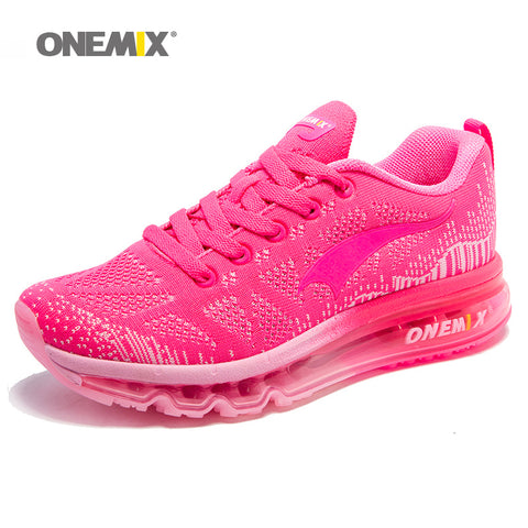 ONEMIX Women Running Shoes Weave Breathable Sport Shoes Air Cushion for Women 2017 New Sneakers Athletic Outdoor Sport Shoes