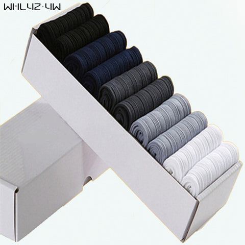 WHLYZ YW 10 pairs/lot/box Brand New Men Bamboo Fiber Socks High Quality business Casual Anti-Bacterial Man Long work cheap Socks