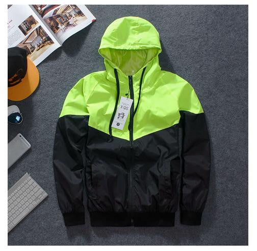 2017 Men Jacket spring Patchwork Reflective Waterproof Windbreaker Men Coat Trend Brand  JK367