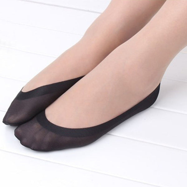 1 Pair Women Sock Cotton Antiskid Invisible Liner No Show Peds Low Cut Ice Stock - All2Wear.com