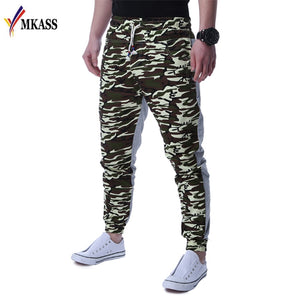 Hot  Brand Mens Jogger Autumn Pencil Harem Pants Men Camouflage Military Pants Camouflage Stitching Casual Pants Men Sweatpants