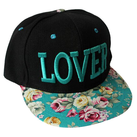 New Fashion Women Floral Love Baseball Cap Summer Style Lady Hats Cotton Ajustable Snapback Caps,Bone