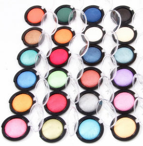Miss Rose 6Color/set Baked Eyeshadow Palette Professional Eye Makeup Shimmer Metallic Eye Shadow