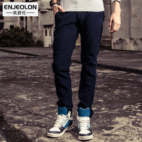 Enjeolon brand 2017 new long trousers Straight pants man, fashion Causal Pants free shipping K5035