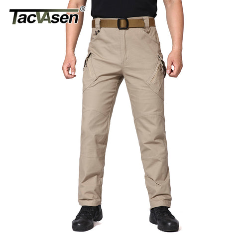 TACVASEN IX9 Men Tactical Pants Men's Cargo Pants Multi Pockets Slim Casual Pant Male Army Military Combat Trousers TD-JLTX-002