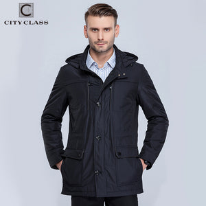 mens jacket business style slim unique multi-pocket thin cotton