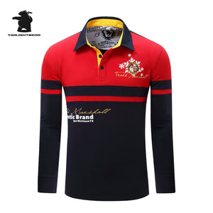 High quality men's long sleeve polo shirts designer fashion embroidery plus size casual polo shirts men pull homme CB23E057