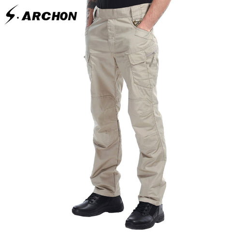 s.archon IX7 Summer tactical army Multi-pocket slim pants Breathable Scratch resistant and waterproof