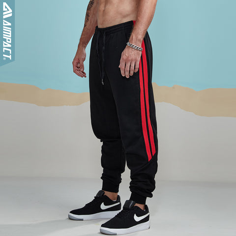 New Men's Sweatpants Casual Long Pants Narrow Feet Simple Side Striped Stitching Fashion Male Trousers AM5001