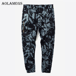 Aolamegsr Cargo Pants Men Military Camouflage Harem Pants Boys Zipper Tactical Pencil Pants Trousers Men 2017 Joggers Sweatpant