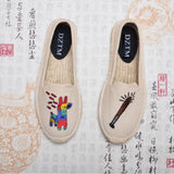 2017 Pure Hand-made Canvas Espadrille Women Ballet Flats Top Quality Sewing Shoes Linen Footwear Comfort Zapatos Mujer