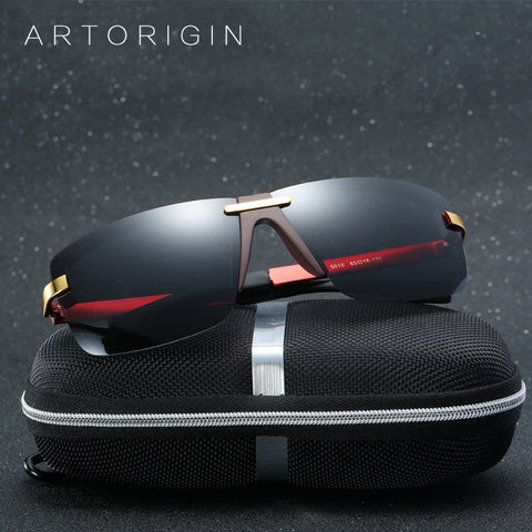 ARTORIGIN Cool Men Sunglasses Polarized Super Quality Male Driving Glasses Flat Tope Coating Inside Large Eyewear With Box AT010