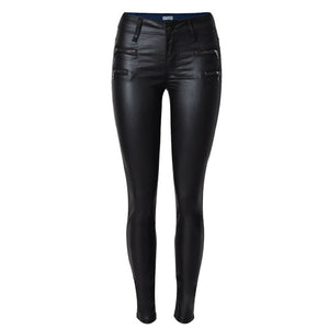 PU Leather women pants Low Waist Slim Woman Pencil PU Pants Skinny Trousers Size 34.36.38.40.42.44 Women PU Pants