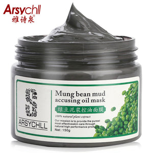 Mung Bean Mud face mask oil control Peeling Acne Black head Remover Contractive Pore Whitening Hydrating Face Skin Care Creams