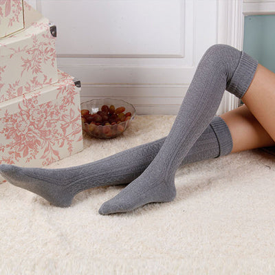 New Fashion Women Sexy High Over The Knee Socks