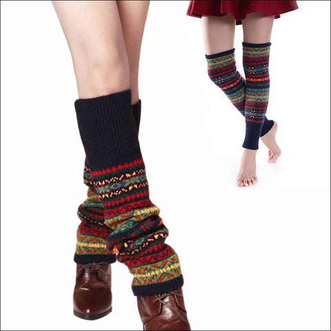 2017 New Winter Thermal Cashmere Women Over Knee Socks Wool Colorful Women's Knitted SocksThicken Girl Warm Socks
