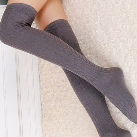 Cotton Material Sexy knee High Long Socks High Elasticity and Softness with 8 colors for Women