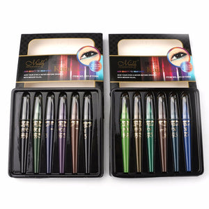 Makeup Eyeliner Colorful Eye Liner Pencil Waterproof Beauty Eye Makeup  Cosmetics Beauty Eyeliner Pencil 6pcs/set