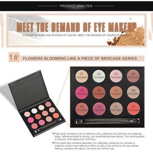12 Color Eyeshadow Palette Portable Makeup Cosmetics Smoky Nude Eye Shadow powder Smoked Naked Waterproof Makeup Set Z3