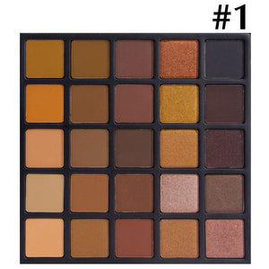 2017 Matte Eye Shadow Powder Make Up Smoky Eyeshadow Kit Palette Silky Powder Pearlescent Earth Color Matte Color Eyeshadow
