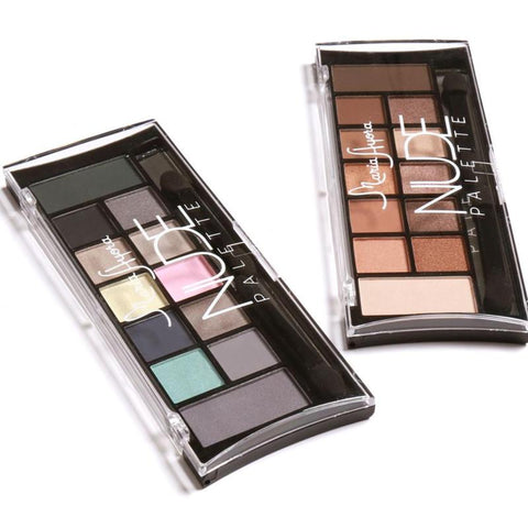 MARIA AYORA 12 Colors Blending Shimmer Matte Eye Shadow Palette Long Lasting Waterproof  Nude Earth Color Eyeshadow Powder RP1-5