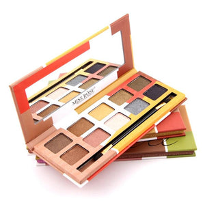 MISS ROSE 10 Colors Shimmer Matte Eye Shadow Palette Long Lasting Waterproof Glitter Metallic Nude Smoky Eyeshadow RP1-5